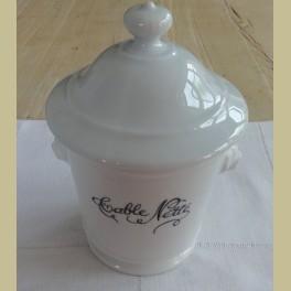 Frans wit porseleinen TABLE NETTE, tafel afvalbakje