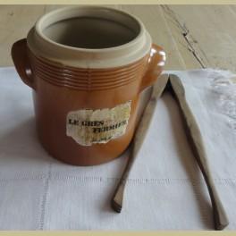 Franse bruine gres pot, Le Gres Fermier