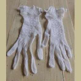 Franse brocante dames handschoentjes