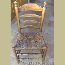 3 Antieke stoelen met rieten zitting