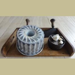 Brocante aluminium poffert / bakvorm