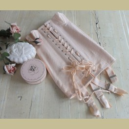 Franse brocante roze korset