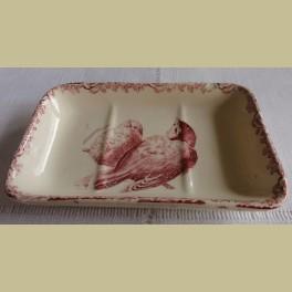 Frans brocante zeepschaaltje met vogeltjes