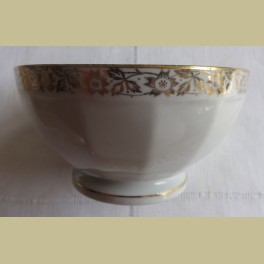 Frans wit porseleinen spoelkommetje met gouden sierrand