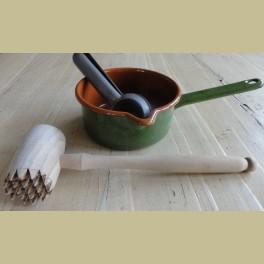 Brocante houten vleeshamer