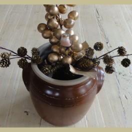 Grote Franse bruine gres pot