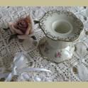 Brocante kandelaartje met bloemetjes, Alko Bavaria Jeanette