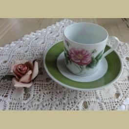 Hutschenreuther P.J. Redouté koffie kop en schotel II