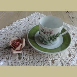 Hutschenreuther P.J. Redouté koffie kop en schotel V