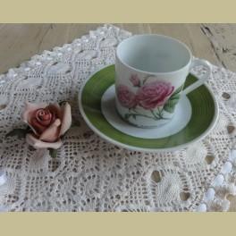 Hutschenreuther P.J. Redouté koffie kop en schotel VI