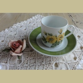 Hutschenreuther P.J. Redouté koffie kop en schotel VII