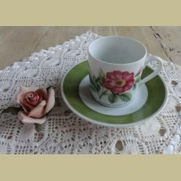 Hutschenreuther P.J. Redouté koffie kop en schotel VIII