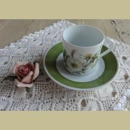 Hutschenreuther P.J. Redouté koffie kop en schotel X
