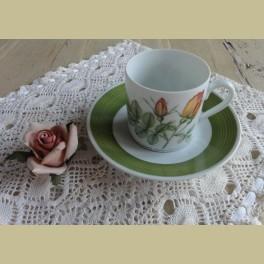Hutschenreuther P.J. Redouté koffie kop en schotel XI