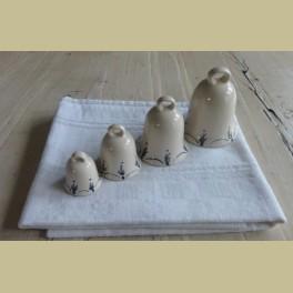 Serie van 4 keramieke klokjes, kerstklokjes