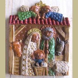 Keramische wanddecoratie , kerststal, Ceramico Convento