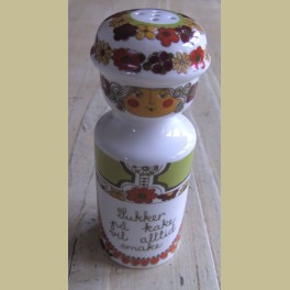 Vintage Noorse suikerstrooier, Figgjo Flint Turi Folklore