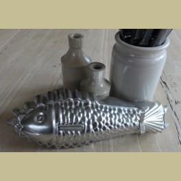 Brocante bakvorm / puddingvorm vis