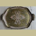 Italiaans Barok dienblad, lichtroze met goud