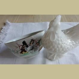 Chinees kommetje met kippen
