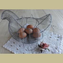 Brocante eiermandje kip