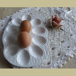 Landelijk off white eierschaaltje haan