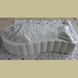 Brocante off white puddingvorm vis