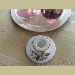 Wedgwood Hathaway Rose kandelaar / blaker met roze roosjes
