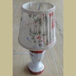 Franse brocante porseleinen lampje met bloemetjes