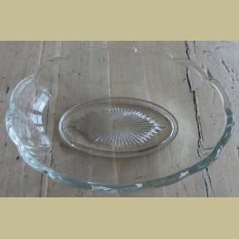 Brocante glazen (zeep) schaaltje