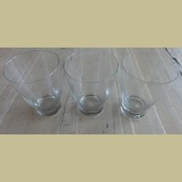 3 Brocante gegraveerde drinkglazen, 10,2 cm