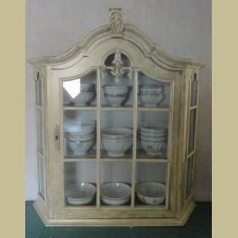 Brocante vitrinekastje voor aan de wand