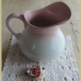 Franse brocante roze lampetkan, Moulin des Loups