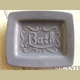 Landelijke taupe zeepschaaltje bath