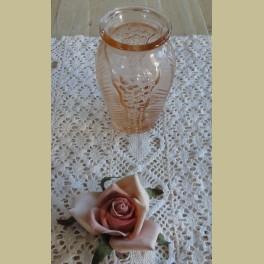Frans roze glazen lepelvaasje