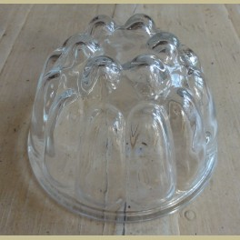 Brocante glazen puddingvorm