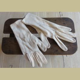 Frans brocante dames handschoentjes, creme