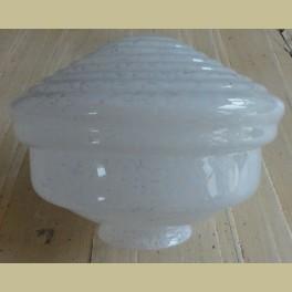Oud Glazen Lampekapje.Oude Franse Wit Gewolkte Glazen Lampenkap Voor Hanglamp La