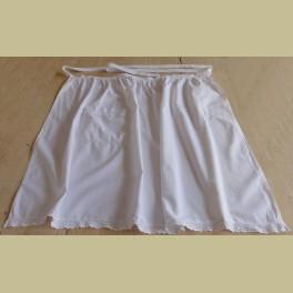Lange witte brocante schort