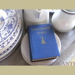 Brocante blauw frans woordenboekje leuk ter decoratie
