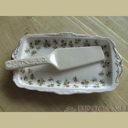 Landelijke taartschep van keramiek
