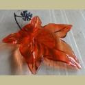 Glazen oranje herfstblad schaaltje
