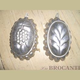 2 Brocante aluminium bakvormen
