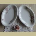 2 serveer schaaltjes met roze bloesem, MOSA