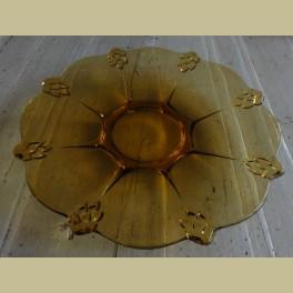 Vintage geel glazen schaal