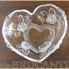 Glazen bonbon schaaltje hart