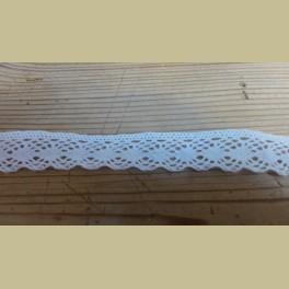 Frans brocante kant, wit , 1,6 cm x 160 cm