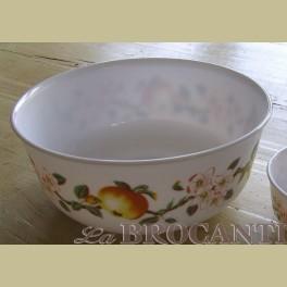 Grote Arcopal kom / schaal met appel & bloesem, 22 cm