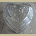 Glazen puddingvorm hart