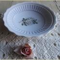 Vintage schaal met witte rozen , Flora Rosaly
